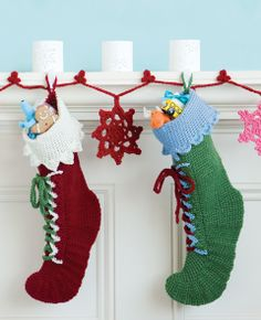 santas boots crochet christmas stockings crochet stocking xmas stockings christmas knitting crochet - Christmas Socks Decoration