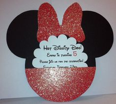 Hot Pink Gatefold Minnie Mouse Invitations by CreativeCraftsLolly