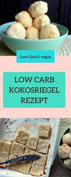 Low Carb Riegel. Veganer Eiweißriegel ohne Zucker in Low Carb. Dieese Kokosbällchen sind vegan, ohne Zucker und sogar glutenfrei. Der perfekte Snack für Zwischendurch. Eignet sich prima für eine kohlenhydratarme Diät. Hier findest du das Rezept: http://www.muesliriegel-selbermachen.de/vegane-eiweissriegel-mit-kokosmehl/ vegane Proteinriegel, vegane Eiweißriegel, Proteinriegel vegan Kokosbällchen, Low Carb Kokosbällchen, Kokos Energiekugeln