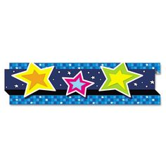 "Pop-It Border, Stars, 3"" X 24', 8 Strips/pack"