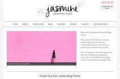 The Jasmine Feminine Wordpress Theme - Blog - 1