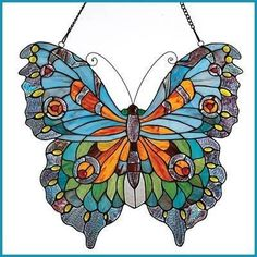 Beautiful stained glass butterfly.