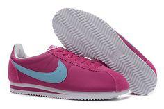 Nike Cortez V1 Lyslilla Lysblå Dame