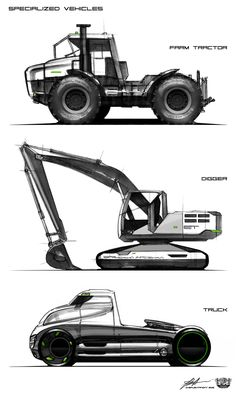 The project presents sketches of cars