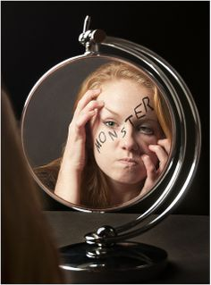 body image disorder...the monster is inside not on the outside..