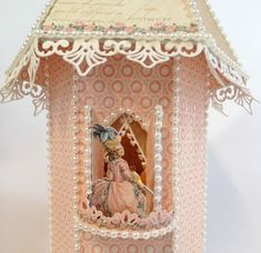 Fairytale Princess Chipboard Castle with 2 towers for the Gilded Lily Mini Album. Blog tutorial by Anne Rostad