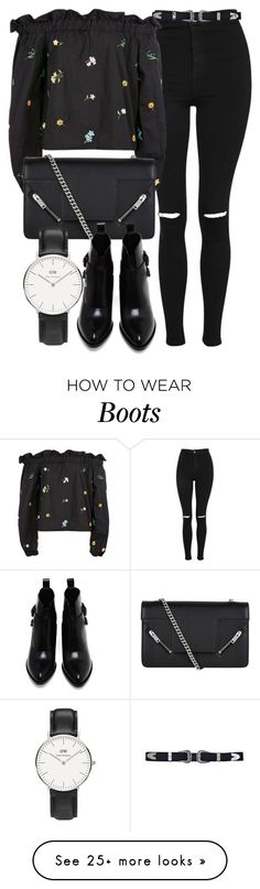 """Untitled #6659"" by laurenmboot on Polyvore featuring Topshop, Yves Saint Laurent, Alexander Wang and Daniel Wellington"