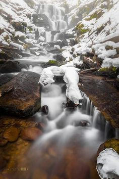 Neverending Story by Irene Mei: This was one of the pictures that I took near the Shepit Waterfall in Carpathian Mountains this winter. Beautiful World, Beautiful Places, Amazing Places, Places To Travel, Places To See, Places Around The World, Around The Worlds, Les Cascades, Beautiful Waterfalls