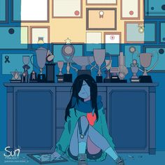 Mimi N are creating SUN Project - Fanart - Critique Dark Art Illustrations, Illustration Art, Aesthetic Art, Aesthetic Anime, Cat Ideas, Character Art, Character Design, Sun Projects, Sad Drawings