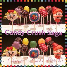 Candy crush cake pops