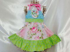 Girls Candy Land Halter Dress Size 4 Handmade; Everyday Use; 100%cotton #Handmade #Everyday