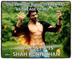 10 pack abs   wow Shah Rukh Khan!