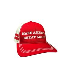 d229cc5cb65 Make America Great Again Donald Trump Hat Vintage Style Red Trucker Hat  C612O3P3AQ2