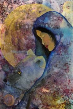 woman with bear painting - Google Search
