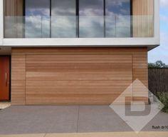 Danmar Cedar Panel 135 Garage Door & Horizontal red cedar timber cladding on garage with tilt lift ... pezcame.com