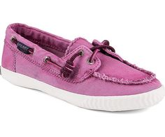 Sperry - Sayel Away Washed Canvas - Rose - LE CAPITAINE D'A BORD