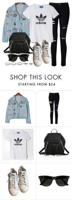 """Style #11051"" by vany-alvarado ❤ liked on Polyvore featuring Chicnova Fashion, Miss Selfridge, adidas, Rebecca Minkoff, Ray-Ban and Luxury Fashion"