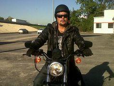 Harley Davidson.  Celebrity chef Aaron Sanchez.