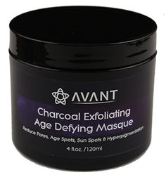 Activated Bamboo Charcoal Exfoliating Face Mask With Healing Clay and Botanical Oils Good For Acne, Minimizing Pores, Sun/Age Spots, Hyperpigmentation | USA Organic and Natural | Large 4floz by Avant