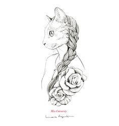 The cat-human hybrids of Laura Agusti Zentangle, Illustrators, Drawings, Inspiration, Beautiful, Appreciation, Coloring, Future, Design