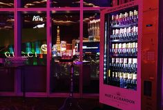#MoetMoment Moet Chandon Vending Machine. YES please!