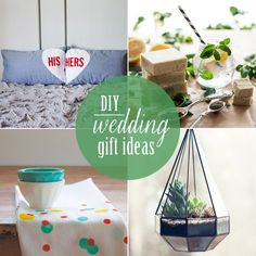 10 DIY Wedding Gifts - Some cool ideas got just special occasions also!