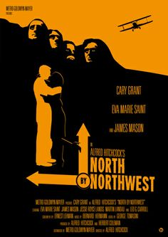 Alfred Hitchcock's North By Northwest Art Print by Alain Bossuyt To Harvey, Please watch these, for your own sanity. Michael Cera