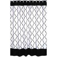 Sweet Jojo Designs Black and White Princess Shower Curtain | Wayfair