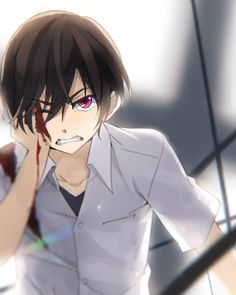 It's quite epic how this artist manages to capture Yuu's injuries on his shoulder and his eye--anyway, HE'S ON RAGE MODE!!!!!!!!
