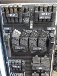 Is your gun safe messy? So you want to keep everything well organized? Then you need to check my Top 7 Gun Safe Organizer Ideas. Ammo Storage, Weapon Storage, Safe Storage, Airsoft, Tactical Equipment, Tactical Gear, Tactical Life, Home Defense, Self Defense