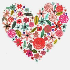 Spring-Themed Etsy Prints For Your Little One's Space Valentines Day Treats, Happy Art, Spring Blooms, Love Images, Heart Print, Make It Yourself, Sketches, Floral, Illustration