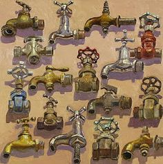 A piece of Lucy Culliton art: the Tap Collection painting. Contemporary Australian Artists, Australian Painting, Paintings I Love, Oil Paintings, Still Life Oil Painting, Kendo, Black And White Photography, Life Is Beautiful, Art Images