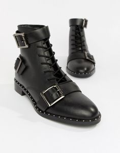 f2a96d8900f8 DESIGN Arabelle leather lace up boots