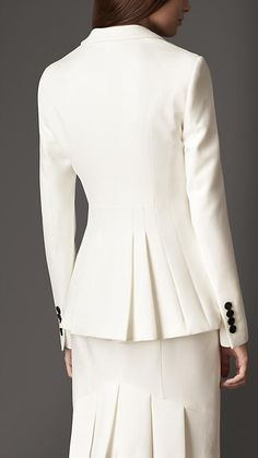 Equestrian Pleat Detail Jacket | Burberry