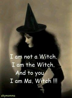 I am not A Witch. I am THE Witch. And to you - I am Ms Witch ;)