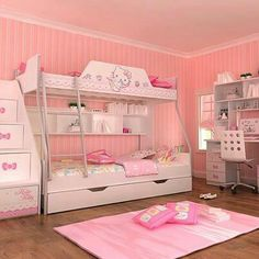 Hello Kitty Bedroom Furniture  ❤Hello Kitty  Pinterest Inspiration Hello Kitty Bedroom Designs Design Inspiration