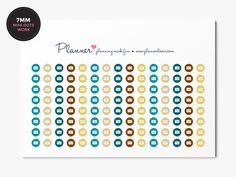 Mark Your Working Hours - 7mm Mini Dots Planner Stickers - Erin Condren November Colors