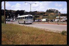 Golden Gate Transit bus at Marin City Flea Market -c.1970's-80's _ Marin County, California