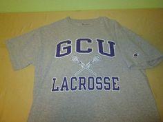 TEAM ISSUE Grand Canyon Antelopes Lacrosse NCAA T Shirt Sz L Large - Gray #Champion #GrandCanyonAntelopes