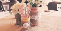 Some really cute ideas and love the colors -- Vintage Woodland Girly Fox Baby Shower Party