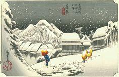 Hiroshige - 15th station : Kambara
