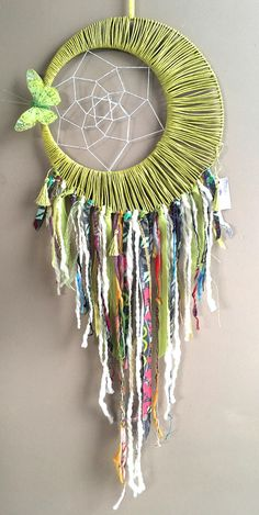 Your place to buy and sell all things handmade Moon Dreamcatcher, Crochet Dreamcatcher, Hobbies And Crafts, Diy And Crafts, Kids Crafts, Indian Arts And Crafts, Idee Diy, Crafty Craft, Hanging Art