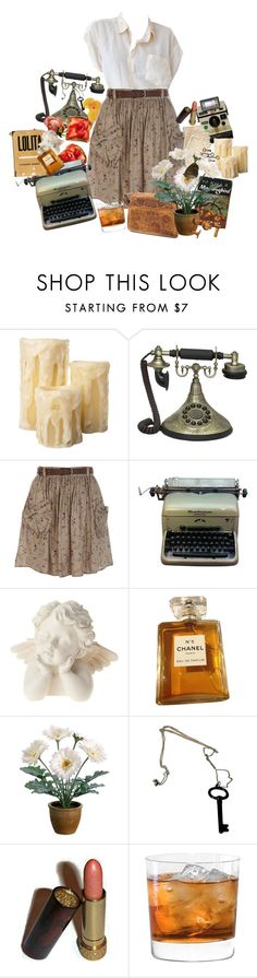 """""""European Hotel Room"""" by nymphdreams ❤ liked on Polyvore featuring Casa Cortes, Cultura, River Island, Remington, Chanel, Gerber, CO and Avon"""