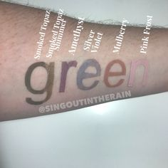 Are you a green-eyed girl?  These 6 SeneGence ShadowSense colors are perfect for you and will last ALL day long!!