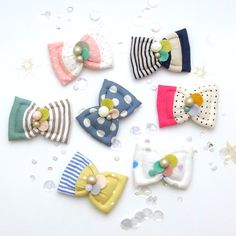 Kid Friendly  Fuwa Bow Hair Clip di HOMAKO su Etsy