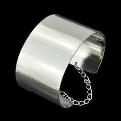 Trendy Punk Style Solid Color Cuff Bracelet For Women