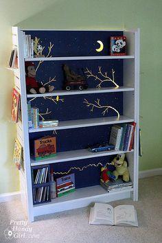 Night light book shelf