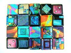 Aqua Turquoise Red Mosaic Glass Backsplash Accent Tile, via Etsy. Stone Mosaic, Mosaic Glass, Mosaic Tiles, Glass Tiles, Pool Tiles, Mosaic Art, Fused Glass Art, Dichroic Glass, Bathroom Wall Art