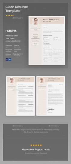 Clean \ Simple Resume Simple resume, Flyer design templates and - font for a resume