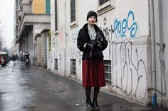 On The Street…..via Piranesi, Milan ( Booties & Ankle boots & Tights )